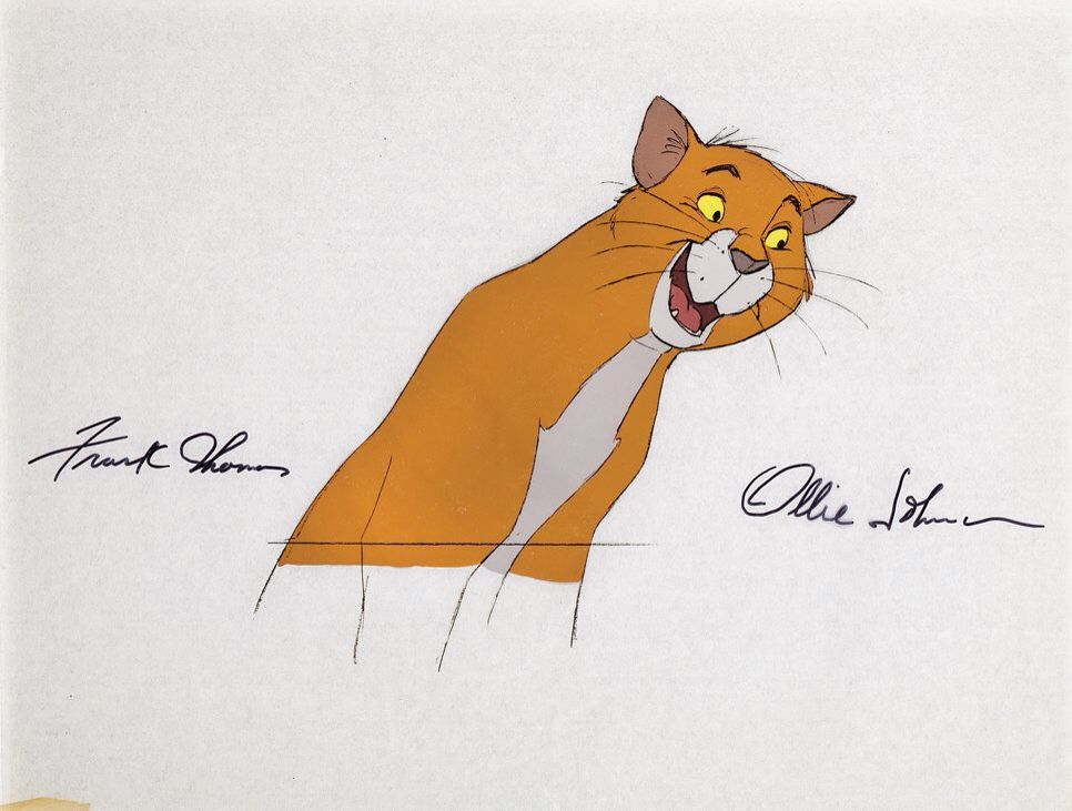 Frank Thomas And Ollie Johnston Signed Production Cel Of O\'Malley ...