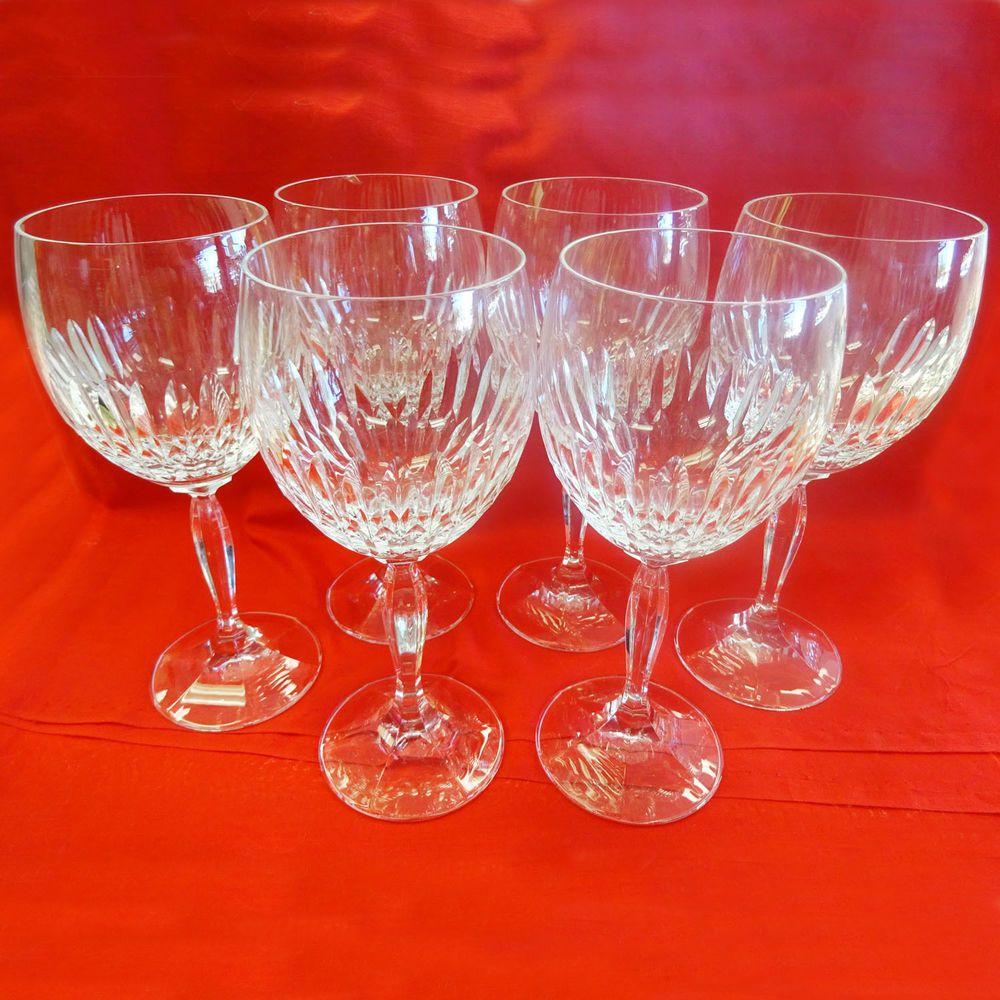 Vintage 6pc Schott Zwiesel Cristallerie Large Burgundy Wine Goblets 7 5 8 Wine Goblets Burgundy Wine Schott Zwiesel