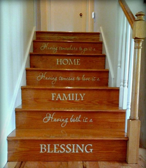 Staircase Decal by 2VinylDivas on Etsy, $36.00