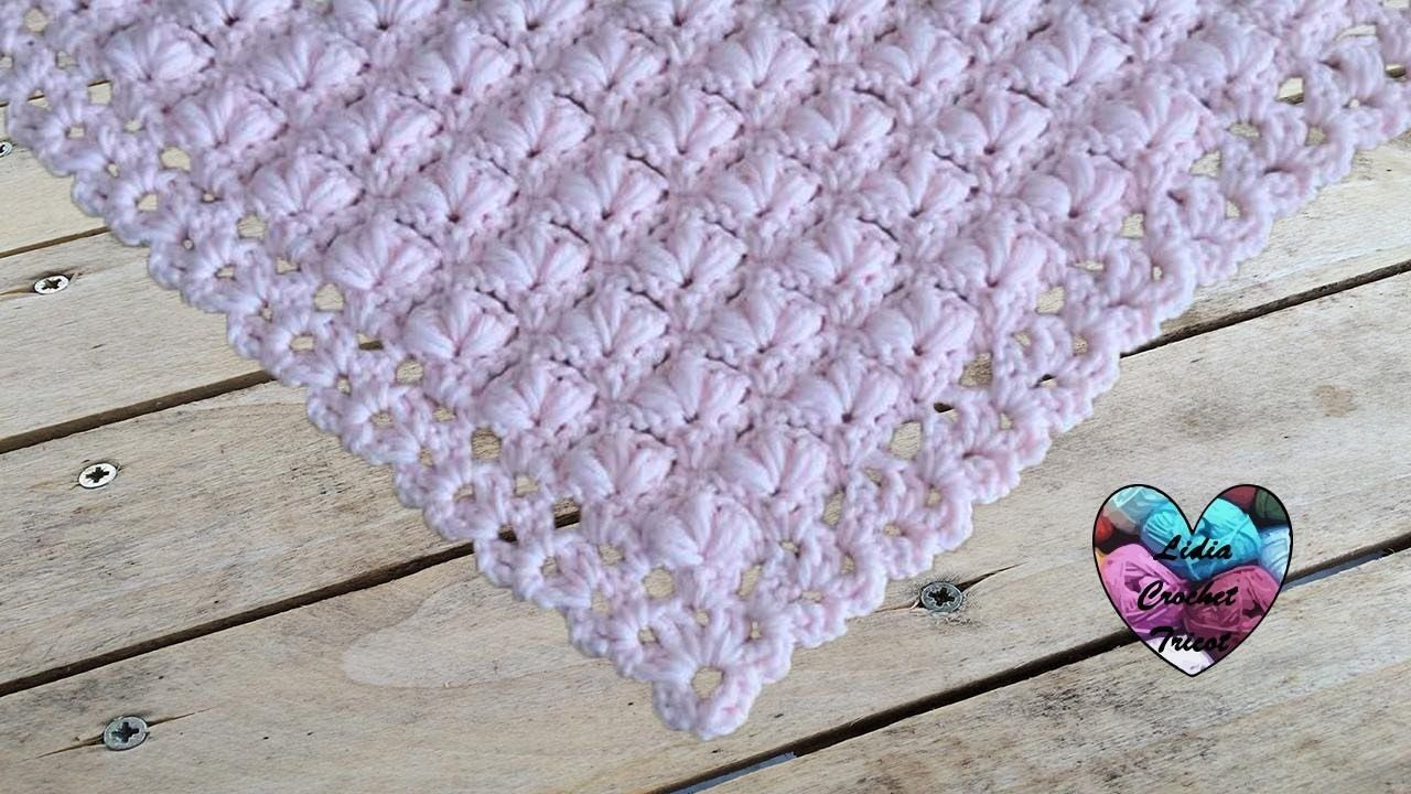Châle Fleuri Relief Crochet Facile Crosetate Lidia