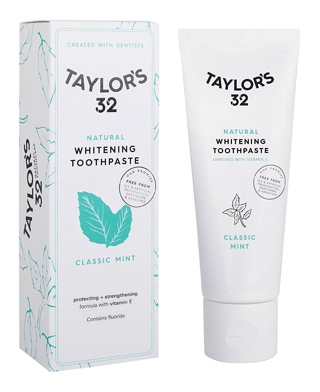 Taylor S 32 Natural Whitening Toothpaste Classic Mint Amazon Co Uk Health Per Natural Whitening Toothpaste Whitening Toothpaste Teeth Whitening Toothpaste