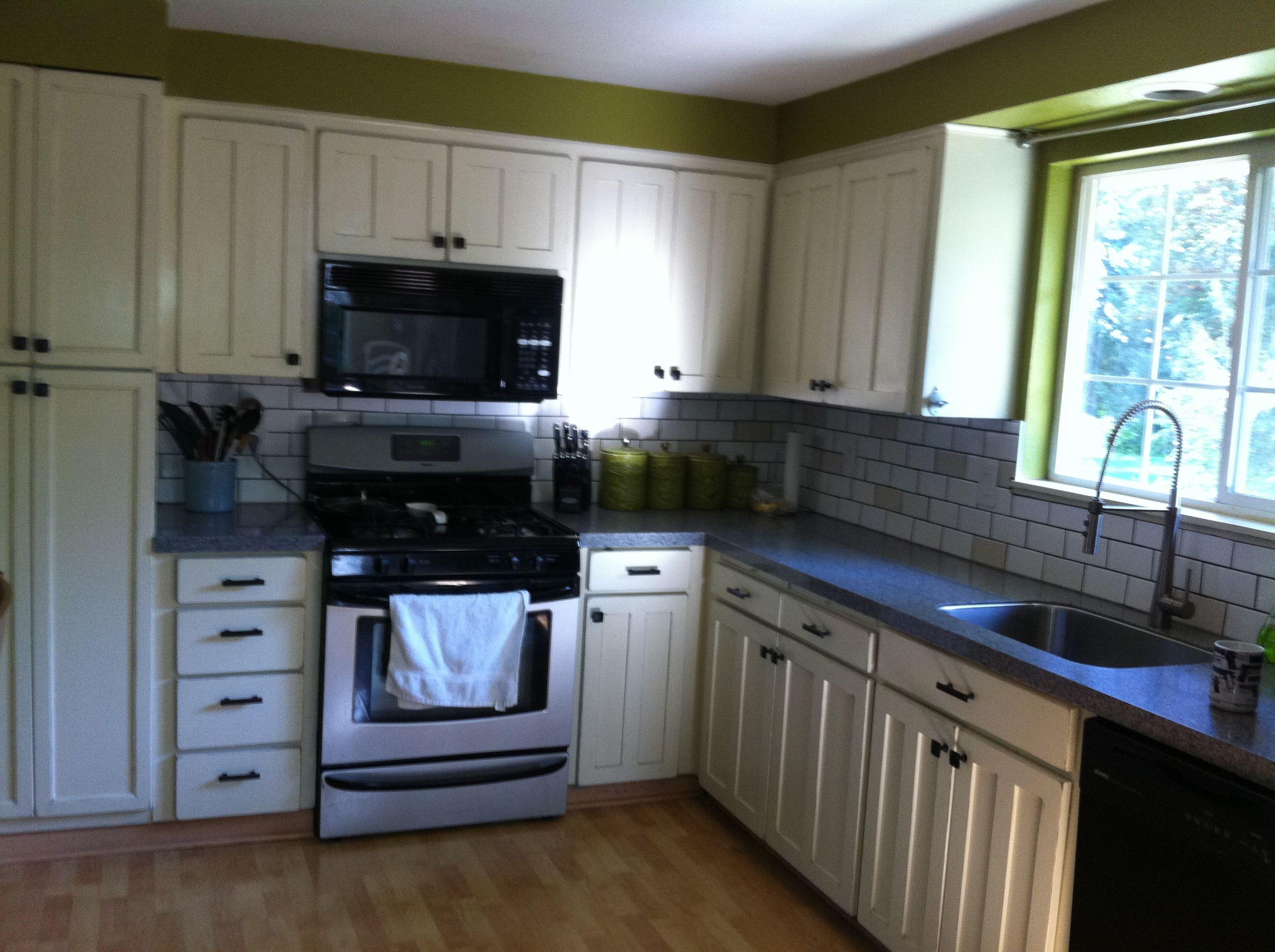 Off white distressed Kitchen Cabinets   Distressed kitchen ...