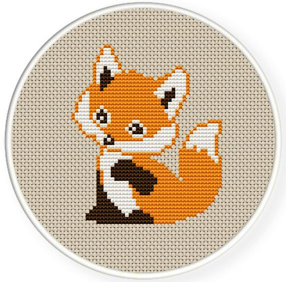 Photo of INSTANT DOWNLOAD,Free shipping,Counted Cross stitch pattern,Cross-Stitch PDF, a cute fox, zxxc0365