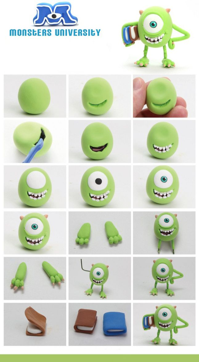 Personajes monster university con fimo o sculpey muy divertido y personajes monster university con fimo o sculpey muy divertido y sper fcil voltagebd Image collections