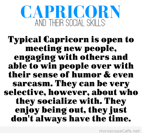 Typical Capricorn | Horoscope Cafe - Your Daily Horoscope