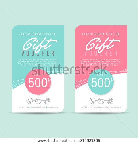 Gift Voucher TemplateGift Voucher Certificate Coupon Design