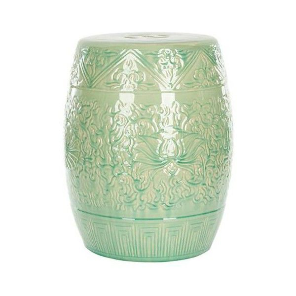 Elegant Safavieh Lotus Lime Green Ceramic Garden Stool ($190) ❤ Liked On Polyvore  Featuring Home, Outdoors, Patio Furniture, Outdoor Stools, Safavieh Patio  ...
