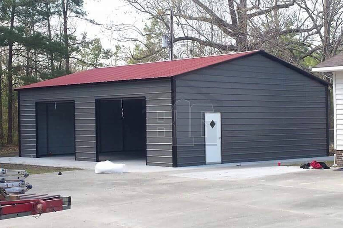 Marice Garage 24x30x11 Big Buildings Direct In 2020 Garage Door Design Garage Door Styles Metal Garages