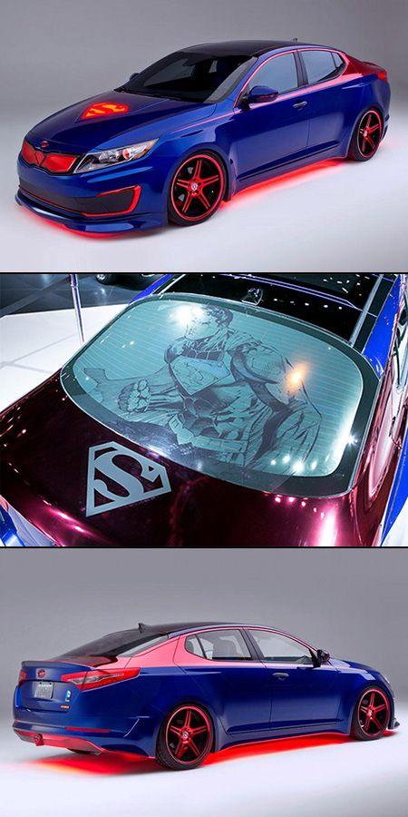 Superman Kia Optima Hybrid Unveiled Techeblog In 2020 Kia Optima Futuristic Cars Super Cars