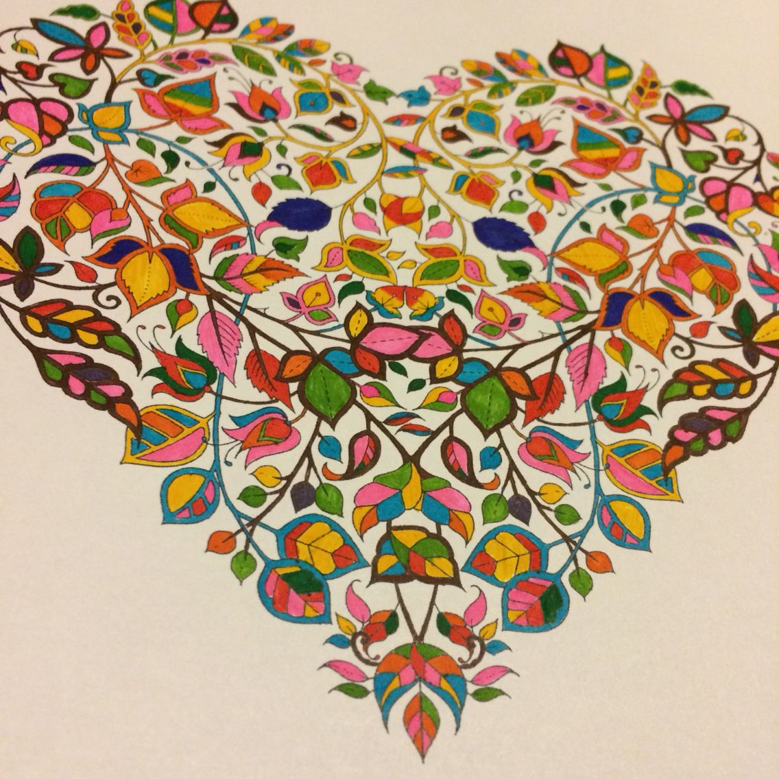Colorful Heart Free Download From Johanna Basford Website The