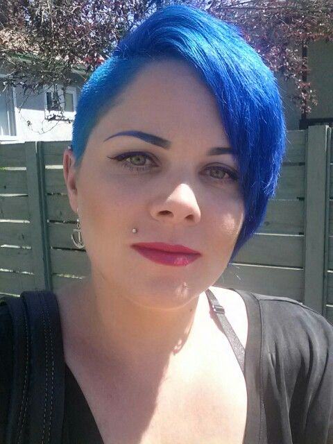Manic Panic Amplified Shocking Blue And Voodoo Blue Mixed With