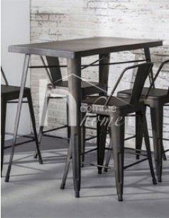 Table haute industrielle en acier BISTROT Table haute
