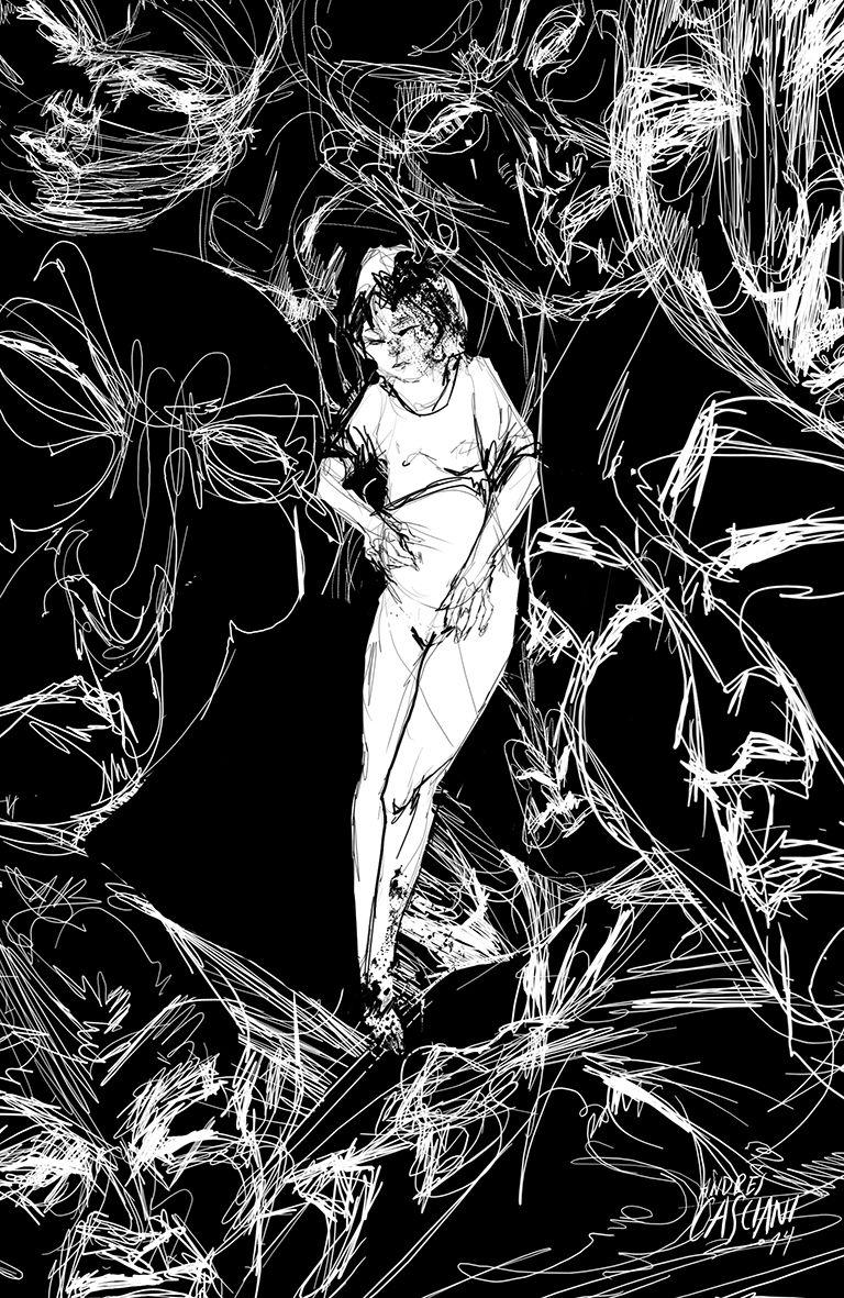 """""""Mongolia"""" ilustración de Andrés Casciani para el libro """"Minificciones"""" de Paulo Neo - digital, 2014/ http://andrescasciani.com/"""
