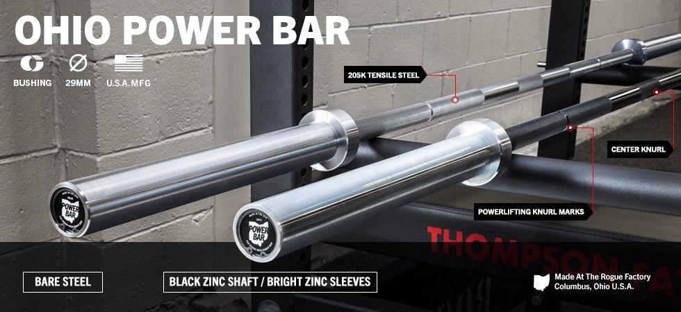 Rogue ohio power bar fitness running pinterest