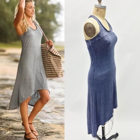 Athleta Blue High-Low Dress (XXS)