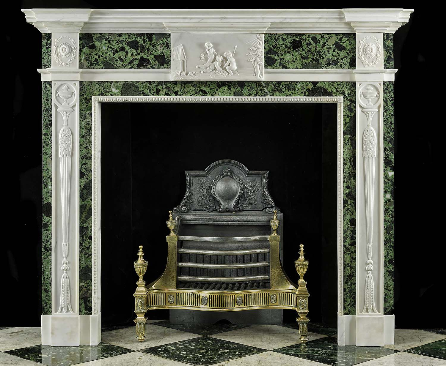 Antique Georgian Marble Carved White Marble Fireplace Mantel Marble Fireplace Mantel Marble Fireplaces Fireplace