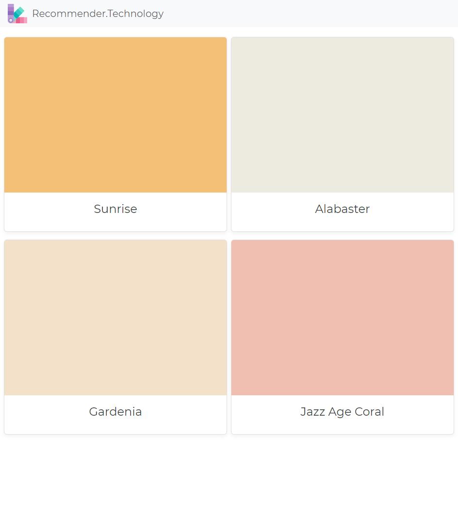 Sunrise Alabaster Gardenia Jazz Age C Colors Paint Color Palettes