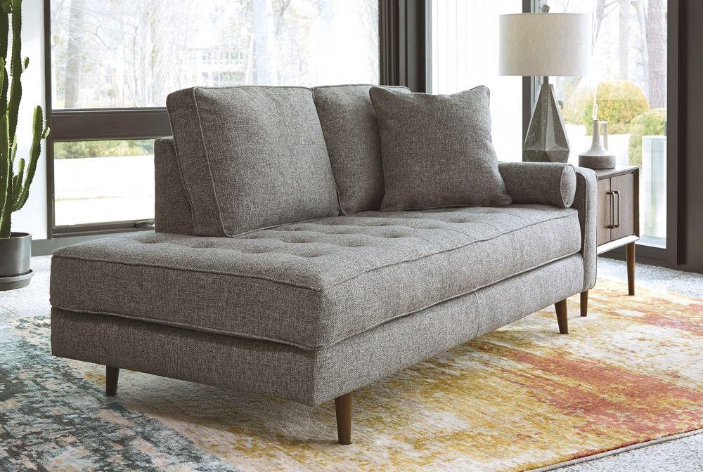 Zardoni Charcoal Fabric Raf Corner Chaise By Ashley