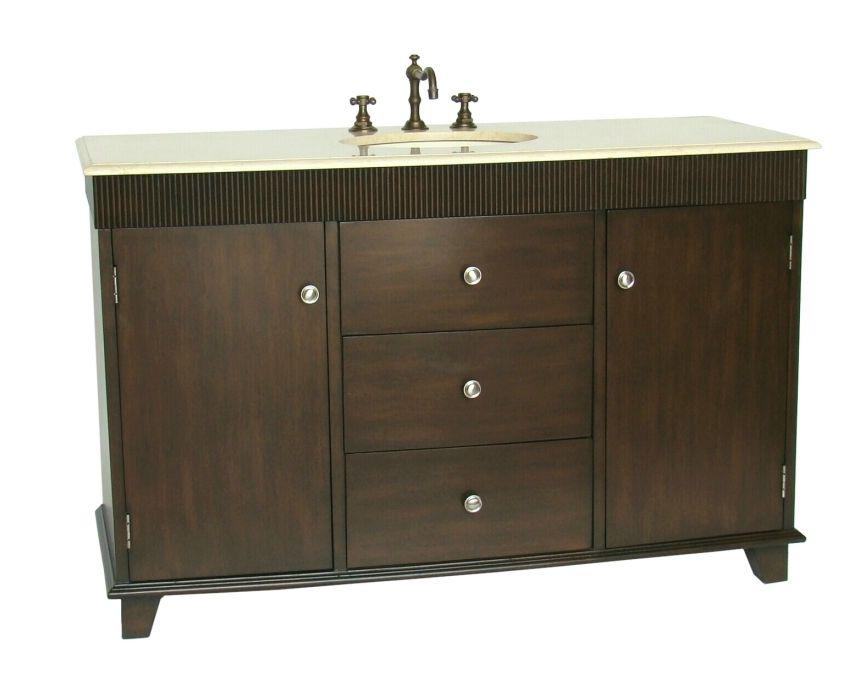 Winston Porter Santo 54 Single Bathroom Vanity Set Sink Location