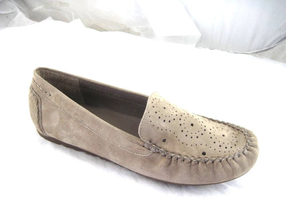 Walking Cradles Rose Petals Elle womens 10W beige wide driving loafers flats