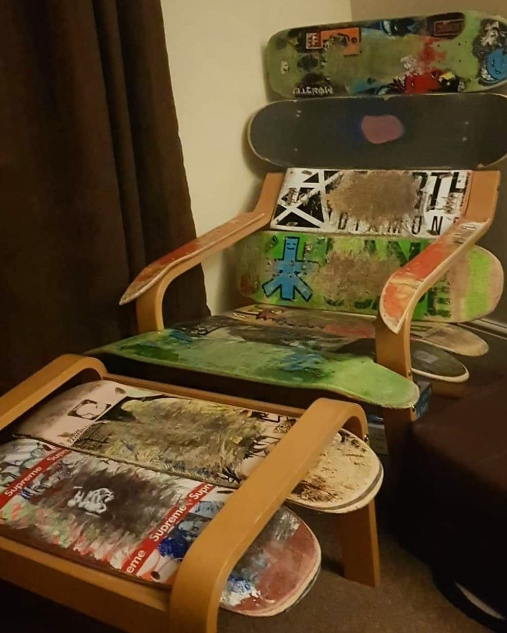 I Made A Chair Out Of Old Skateboards Https Ift Tt 2rcbj1c Chair Cute Diy Projects Diy Projects