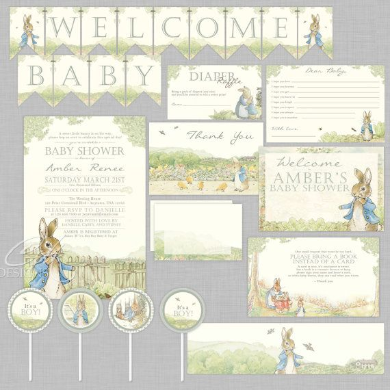 204b72c9a Peter Rabbit party supplies - Lifes Little Celebration. Find this Pin and  more on Eyad's baby shower ...