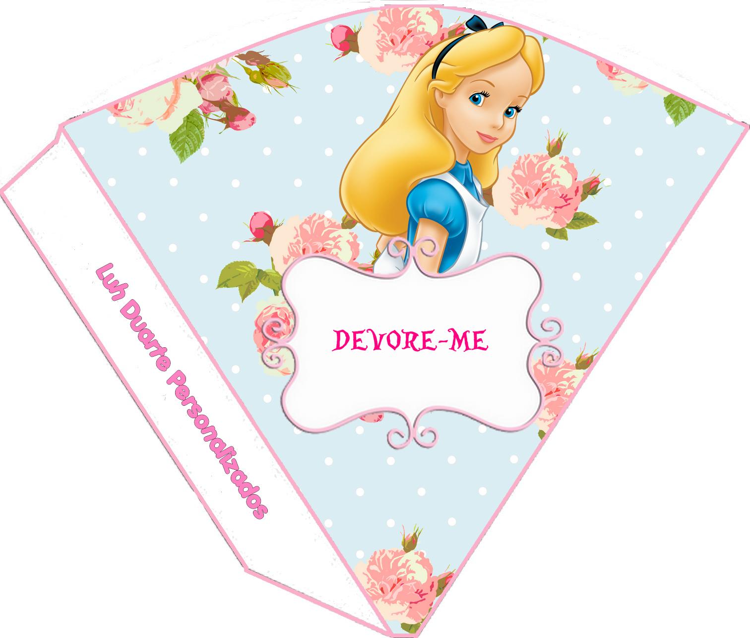 Kit De Personalizados Tema Alice No Pais Das Maravilhas