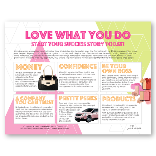 Pop & Glow Marketing Sheet to perfectly go with the new