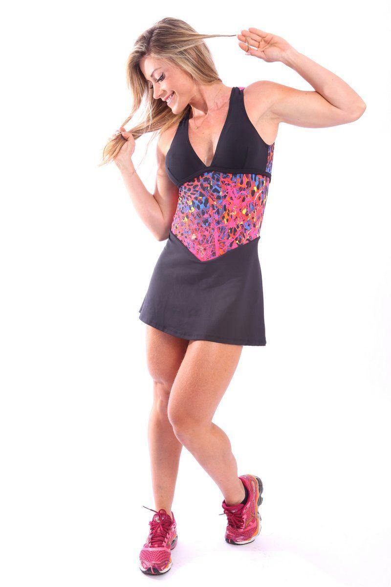 Dani Banani Moda Fitness - vestido-saia-estampado produto 3403 macaquinho