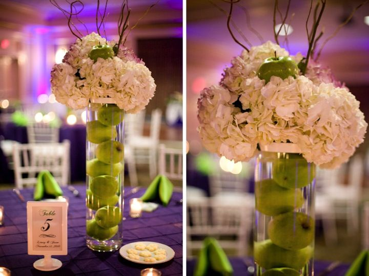 Purple green florida wedding part 2 centerpieces green purple green florida wedding part 2 junglespirit Choice Image