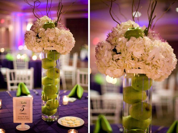Purple & Green Florida Wedding: Part 2 | Centrepieces, Green ...
