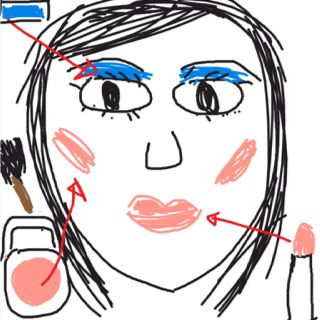 Laughable MAKEUP. This is probably why I don't wear makeup. Either way, I look gross.  Save money.