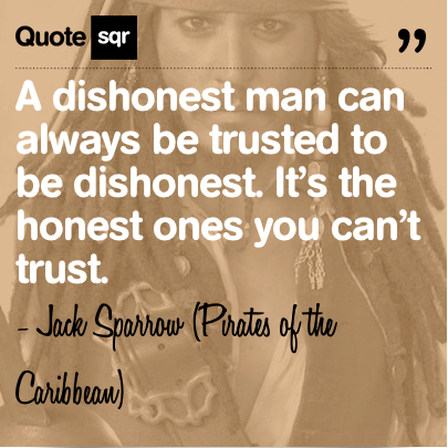a dishonest man
