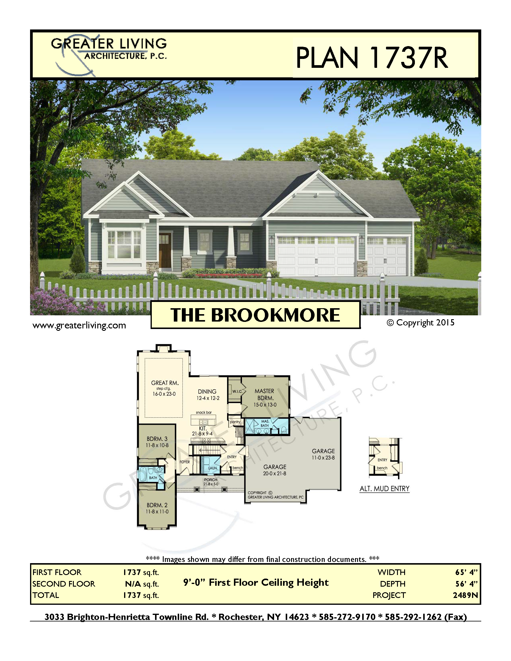 Plan 1737R: THE BROOKMORE | House plans | Pinterest | Architecture ...