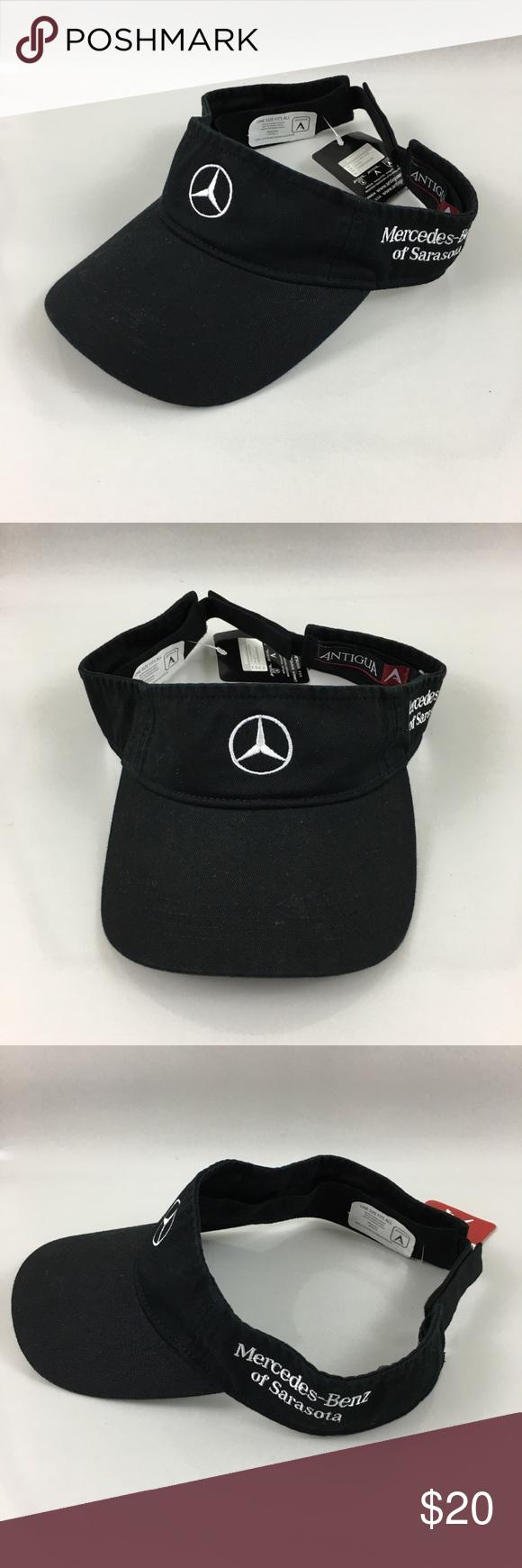 Antigua Mercedes Benz of Sarasota black visor hat New with tag Accessories  Hats b8db87c1a37e