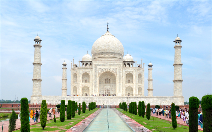 Download Wallpapers Taj Mahal, 4k, Indian Attractions