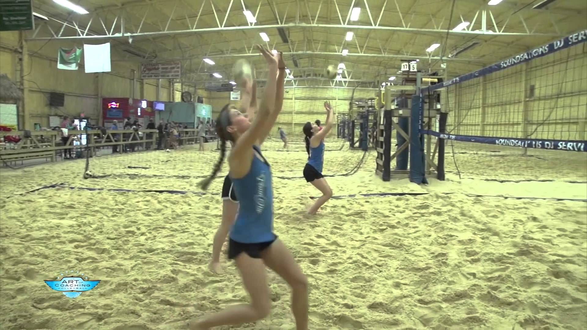 Beach Volleyball Warmup Drill That S Better Than Pepper The Art Of Coaching Volleyball Coaching Volleyball Beach Volleyball Volleyball Training