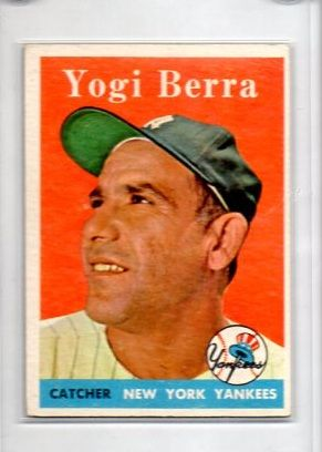 1958 Topps 370 Yogi Berra Collector Revolution Baseball Cards Old Baseball Cards Baseball Card Values