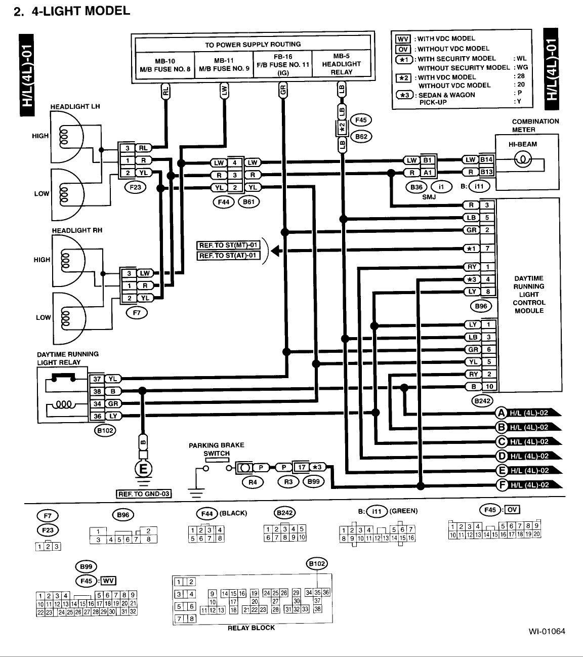 Wiring Diagram Subaru Legacy 1995 / Subaru Legacy Free