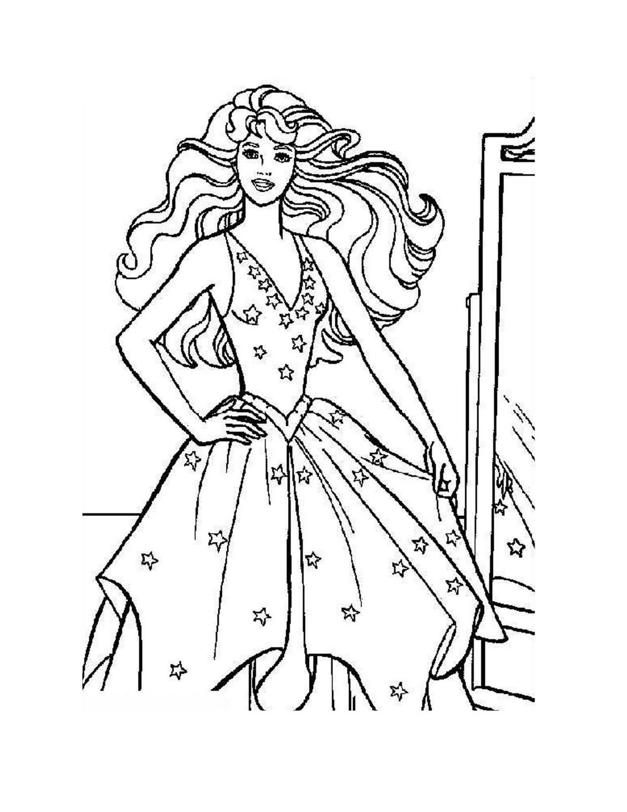 Barbie Coloring pages Princesses   Disney Princess Coloring Pages ...
