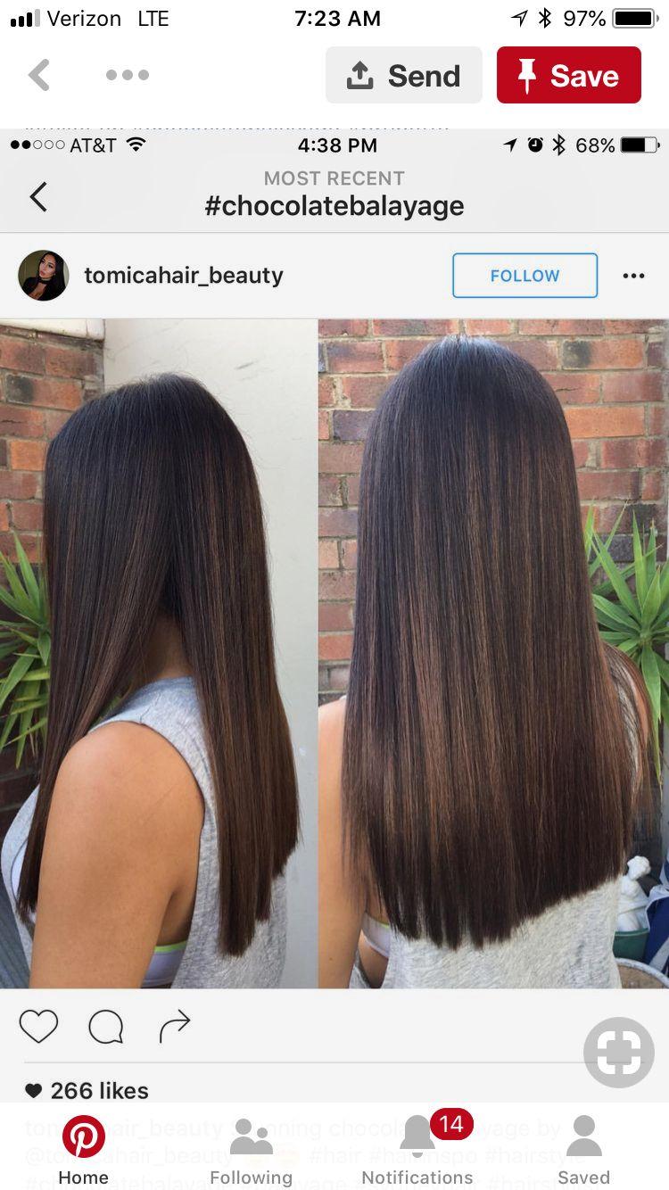 Pin By Lindsey Breann On H A I R Black Hair Balayage Balayage Straight Hair Brown Hair Balayage