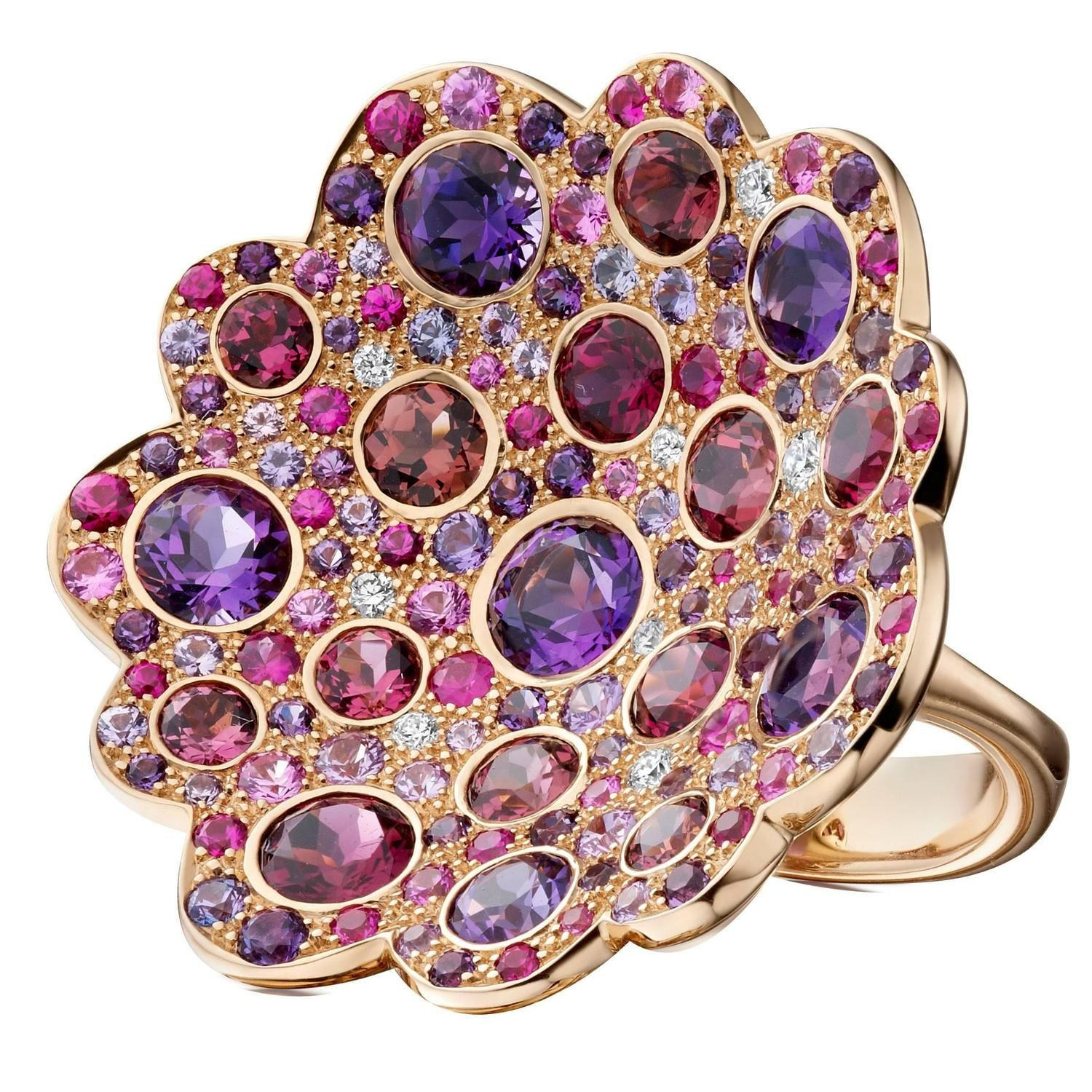 """""""Firefly"""" Multi Gem Gold Ring 
