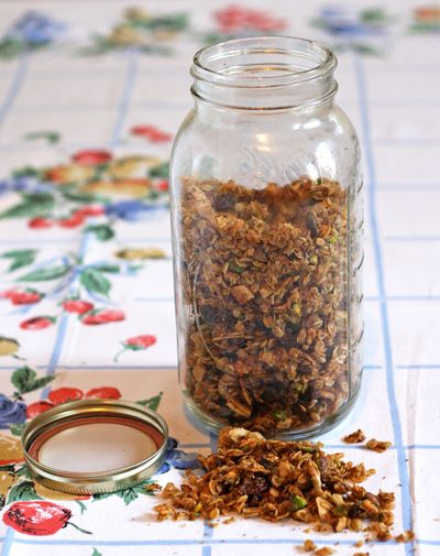 Pistachio-Coconut Olive Oil Granola Recipe - Saveur.com