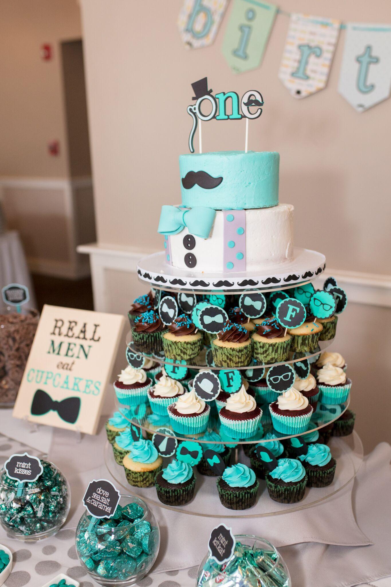 Little Man Birthday Cake Mustache Cake Bow Tie Cake Sarahs Custom