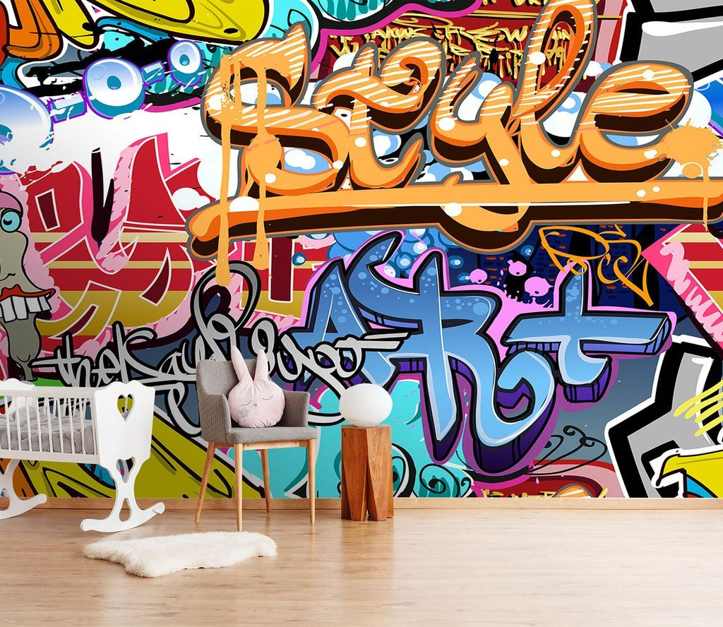 Abstract Graffiti 5 AJ Wallpaper Wall murals, Graffiti