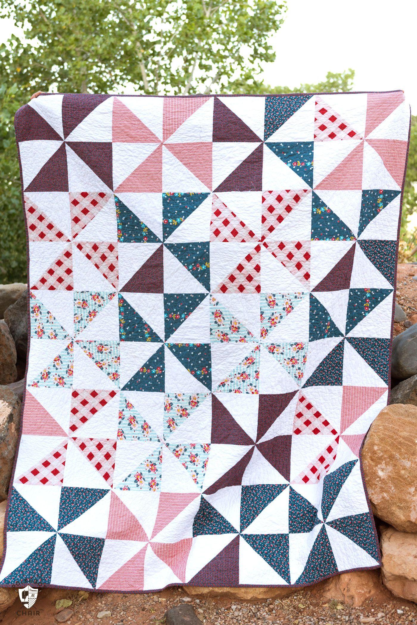 Summer Pinwheel Quilt Beginner Sewing Projects Easy Quilting For Beginners Pinwheel Quilt