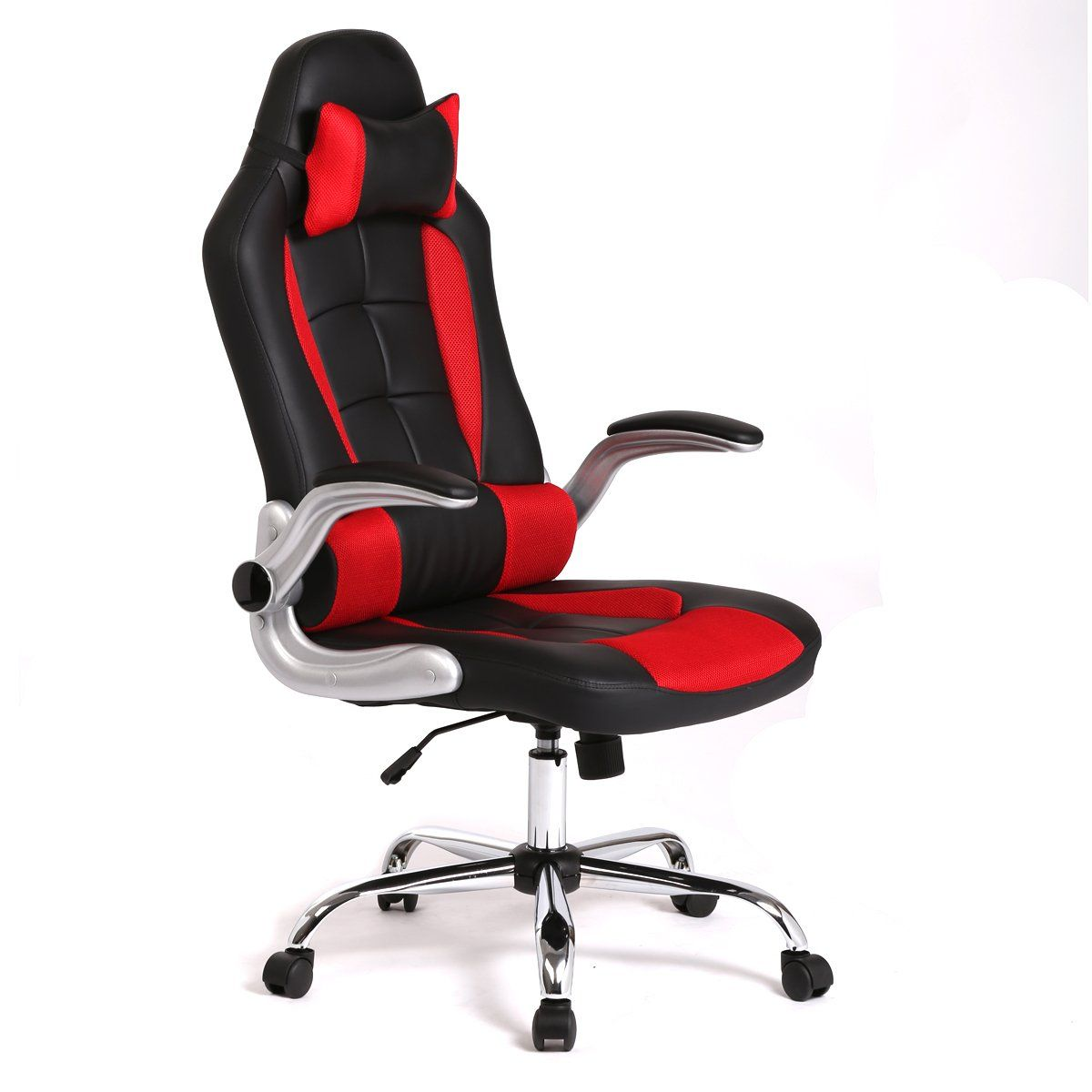 Office Chair High Seat Soccer Mom Chairs New Back Race Car Style Bucket Desk Gaming