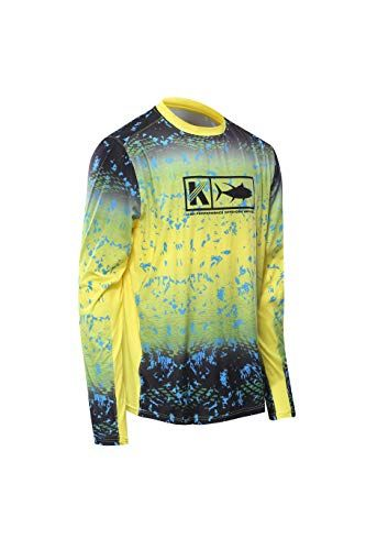 bb58d35f96d Performance Long Sleeve Shirt Men UPF 50 Mesh Quick Dry Fit Cooling Running  Moisture Wicking Athletic