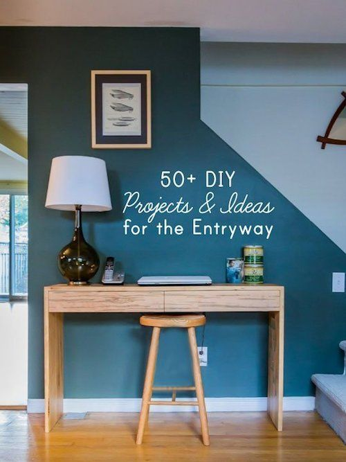 50 diy projects for your entryway deco diy for Aterrizaje del corredor de entrada deco