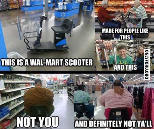 The Wall Mart Scooter Funny Lol Fun Humor Comics Meme